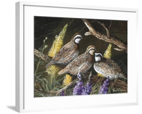 Bobwhite Trio 1-Trevor V. Swanson-Framed Art Print