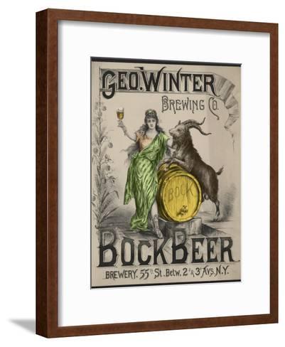Bockbeer Green--Framed Art Print