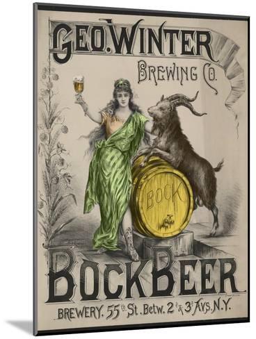 Bockbeer Green--Mounted Giclee Print