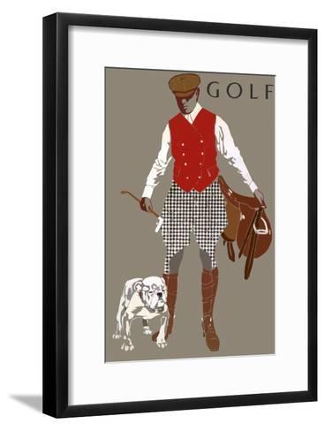 Bulldog--Framed Art Print