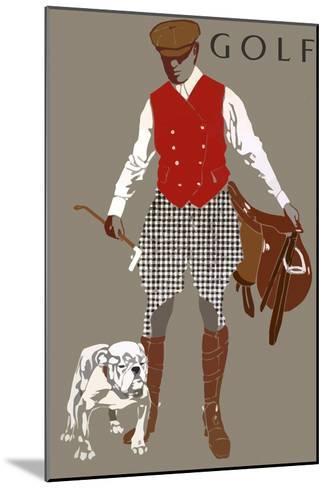 Bulldog--Mounted Giclee Print