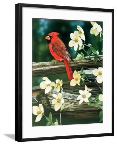 Cardinal-William Vanderdasson-Framed Art Print