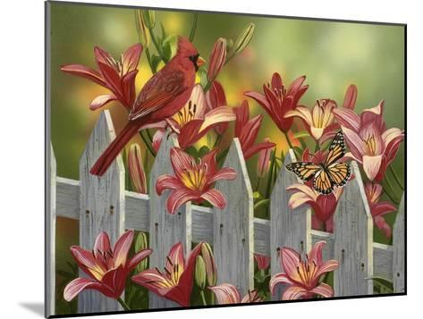 Cardinal and Lilies-William Vanderdasson-Mounted Giclee Print