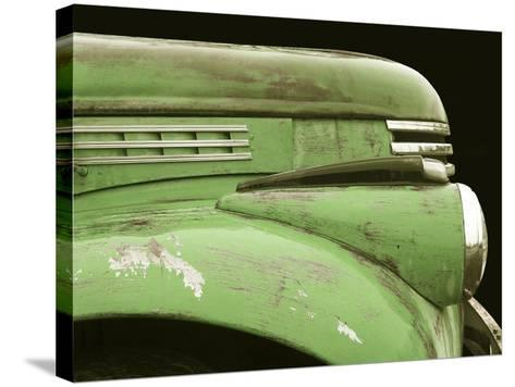 Chevy Streamline - Apple Green-Larry Hunter-Stretched Canvas Print