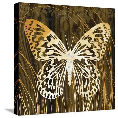 Butterflies and Leaves II-Erin Clark-Stretched Canvas Print