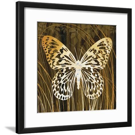 Butterflies and Leaves II-Erin Clark-Framed Art Print