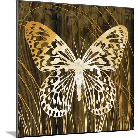 Butterflies and Leaves II-Erin Clark-Mounted Giclee Print