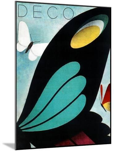 Deco Butterfly--Mounted Giclee Print