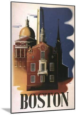 Boston Architecture--Mounted Giclee Print