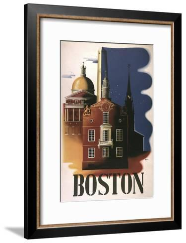 Boston Architecture--Framed Art Print