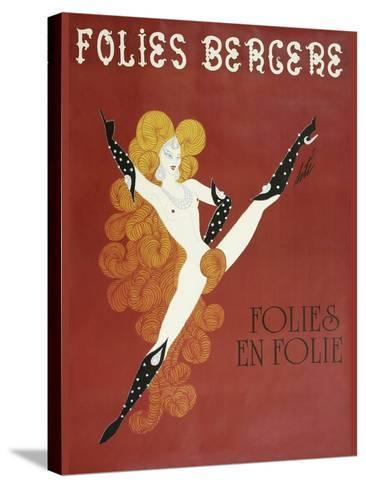 Folies Bergere Risque--Stretched Canvas Print
