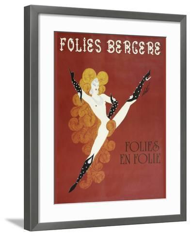 Folies Bergere Risque--Framed Art Print