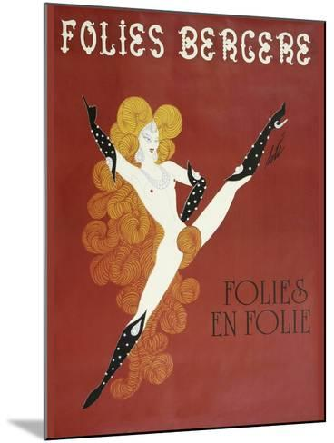 Folies Bergere Risque--Mounted Giclee Print