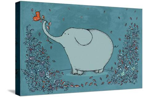 Garden Elephant-Carla Martell-Stretched Canvas Print