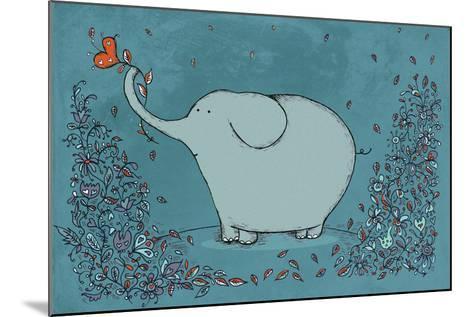 Garden Elephant-Carla Martell-Mounted Giclee Print