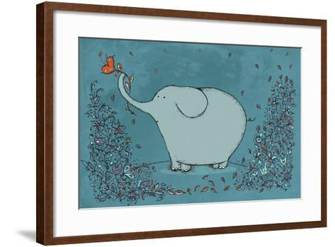 Garden Elephant-Carla Martell-Framed Art Print