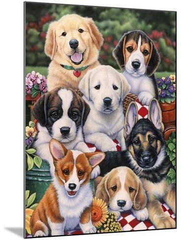 Garden Puppies-Jenny Newland-Mounted Giclee Print
