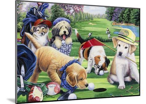 Golfing Puppies-Jenny Newland-Mounted Giclee Print