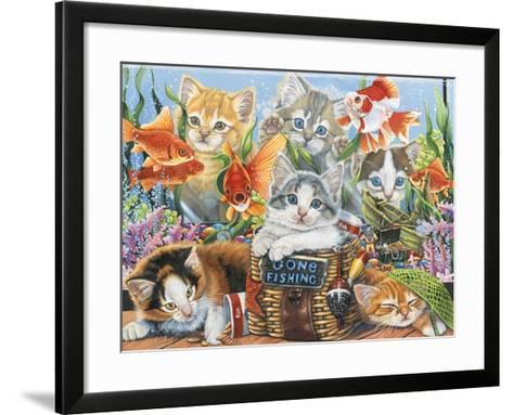 Gone Fishing-Jenny Newland-Framed Art Print