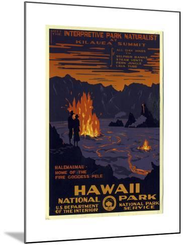 Hawaii National Park--Mounted Giclee Print