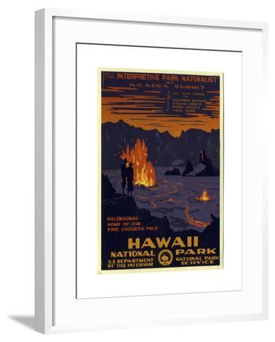 Hawaii National Park--Framed Art Print