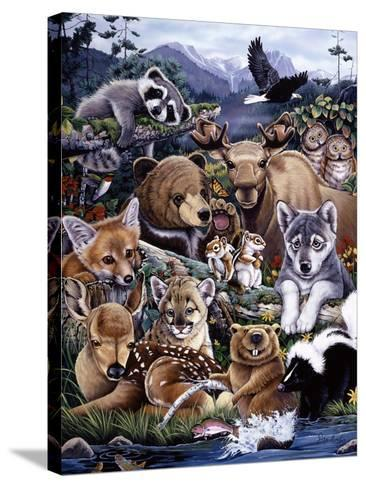 Forest Friends-Jenny Newland-Stretched Canvas Print