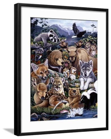 Forest Friends-Jenny Newland-Framed Art Print