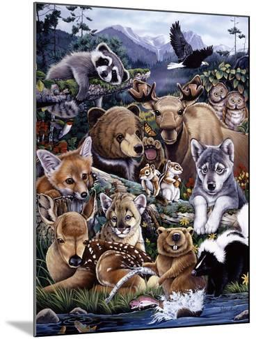 Forest Friends-Jenny Newland-Mounted Giclee Print