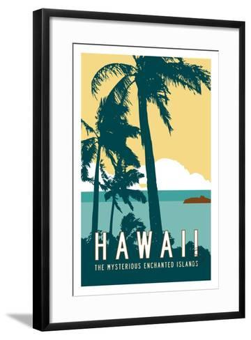 Hawaii Travel Poster-Michael Jon Watt-Framed Art Print