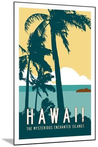 Hawaii Travel Poster-Michael Jon Watt-Mounted Giclee Print