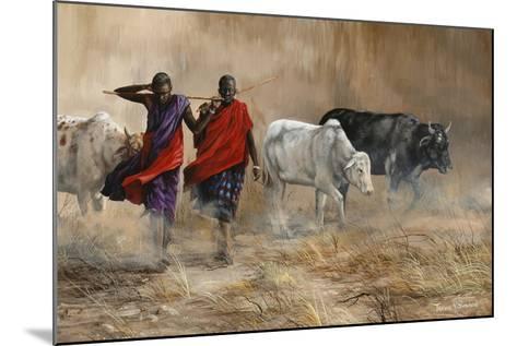 Dusty Cattle Drive-Trevor V. Swanson-Mounted Giclee Print