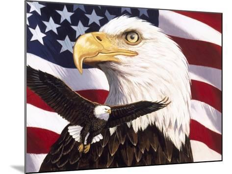 Eagle and Flag-William Vanderdasson-Mounted Giclee Print