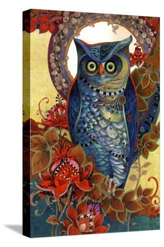 Hoot-David Galchutt-Stretched Canvas Print