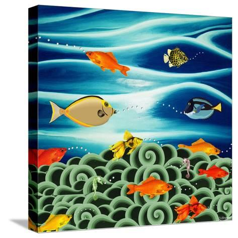 Fishtales I-David Sheskin-Stretched Canvas Print