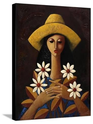 Five Daisies-Oscar Ortiz-Stretched Canvas Print