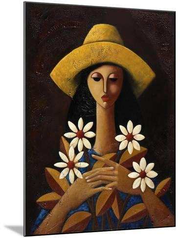 Five Daisies-Oscar Ortiz-Mounted Giclee Print