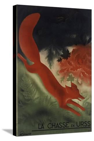 Fox USSR--Stretched Canvas Print