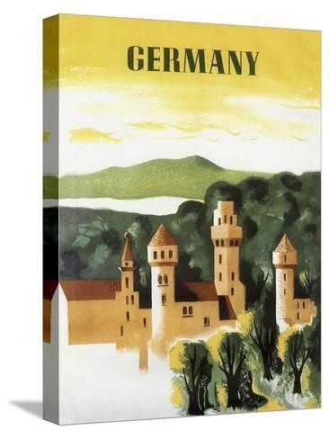 Germany Castle Vint Trav--Stretched Canvas Print