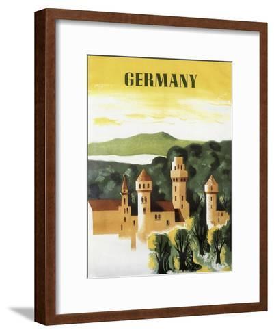 Germany Castle Vint Trav--Framed Art Print