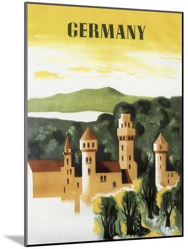 Germany Castle Vint Trav--Mounted Giclee Print