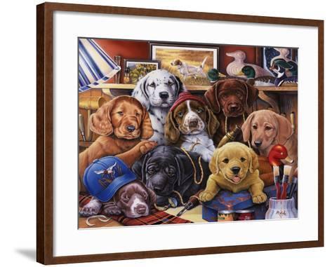Grandpa's Puppies-Jenny Newland-Framed Art Print