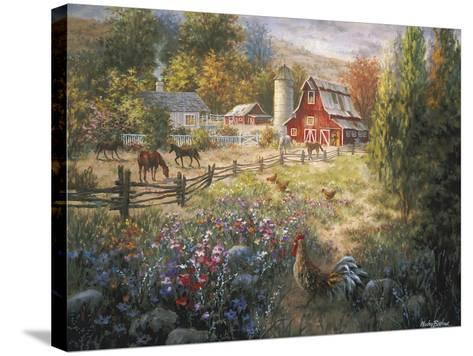 Grazing the Fertile Farmland-Nicky Boehme-Stretched Canvas Print