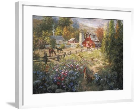 Grazing the Fertile Farmland-Nicky Boehme-Framed Art Print