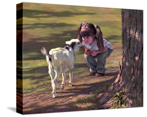 Goat Whisperer-Bob Byerley-Stretched Canvas Print