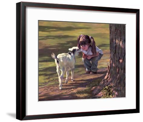 Goat Whisperer-Bob Byerley-Framed Art Print