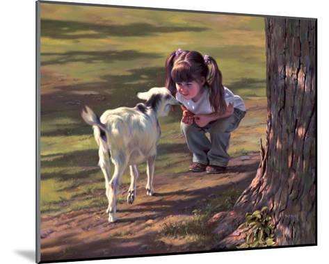 Goat Whisperer-Bob Byerley-Mounted Giclee Print