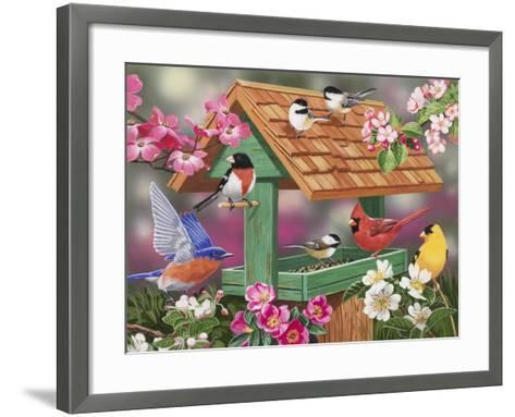 Feathers and Flowers-William Vanderdasson-Framed Art Print
