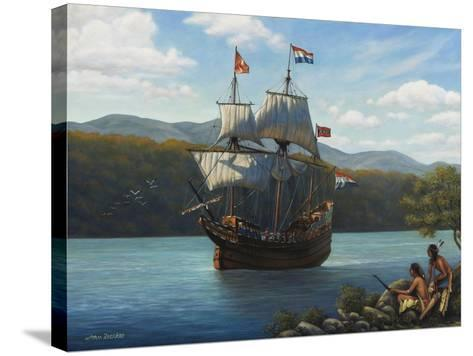 Half Moon on the Hudson-John Zaccheo-Stretched Canvas Print