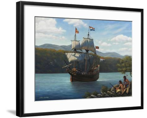 Half Moon on the Hudson-John Zaccheo-Framed Art Print