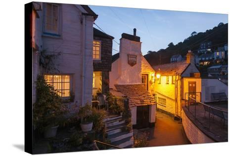 Polperro is a Village with Beautiful Ancient Houses along a Canal-Guido Cozzi-Stretched Canvas Print